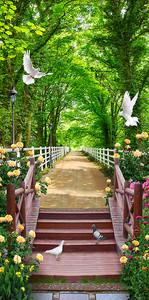 Дорожка в живописном парке