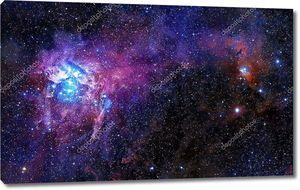 Розовое звездное небо