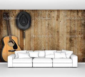 Ковбойская шляпа и гитара