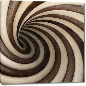 Спиральный деревянный тоннель
