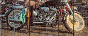 Крупный план мощного мотоцикла