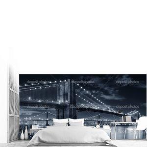 Городской мост ночная сцена