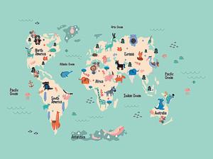 Детская карта с зверятами