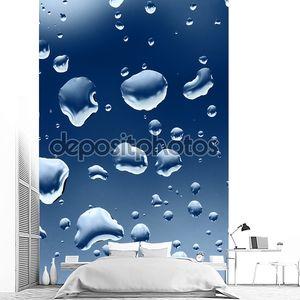 Вода понижается на стекле