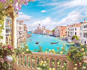 Венеция, вид с балкона