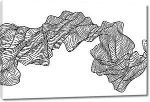 Скрученная лента из линий