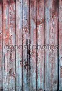 старые деревянные доски в строке красного и синего цвета, фон