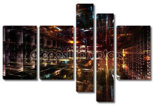 случайного городских абстракция