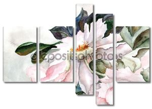 Grunge background with a flower