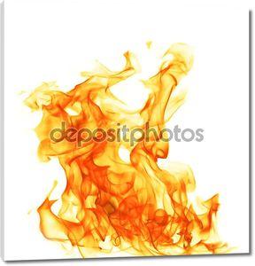 Огонь пламя, изолированные на белом backgound