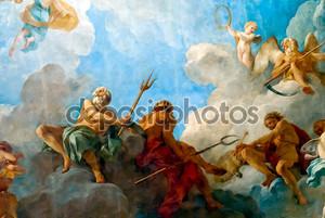 Версаль Париж: Роспись потолка в зале Геракла