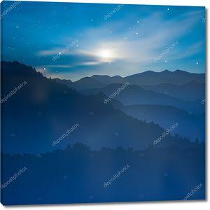 Абстрактный фон восход солнца в горах