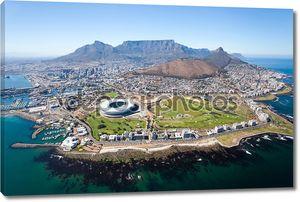 Общий вид с воздуха города Кейптаун
