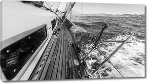 Аренда яхт в гонке на море