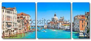 Canal grande с базилика ди Санта-Мария делла Салюте в Венеции, Италия