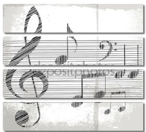 Эскиз ноты. Векторные иллюстрации