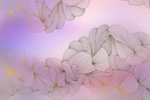 Lusso II-переплетение  линий на розовом