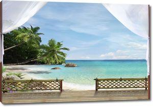 Терраса с видом на море и пляж