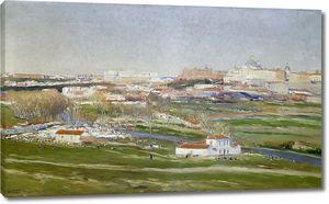 Беруэте и Морет Аурелиано де. Вид на луга Сан-Исидро в Мадриде