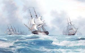 Парусники в открытом море
