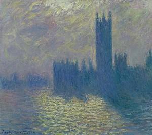 Моне Клод. Парламент в Лондоне 1904