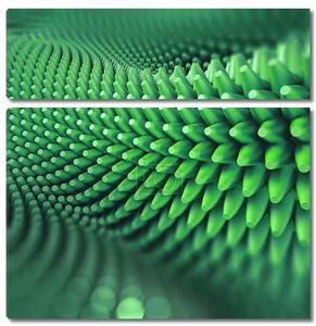 Абстрактные 3d колючий фон, компьютерная графика, зеленый