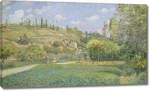 Камиль Писсарро. Пастушка в Вальермейле, Овер-сюр-Уаз
