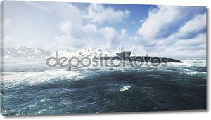 Подводные лодки России Borei в северной части воды 3