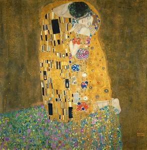 Поцелуй, Климт Густав