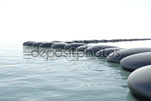 Zen камни в бурной воде