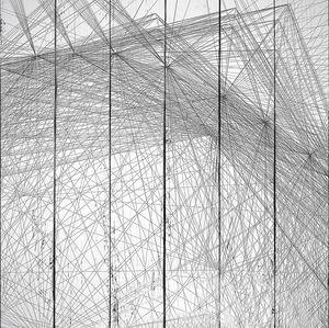 Черно-белый геометрический фон из нитей