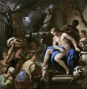Лука Джордано. Вирсавия в купальне, 1698