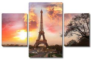 Париж, Эйфелева башня в Весна