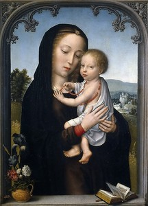Давид Герард. Мадонна с младенцем