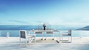 Пляж Рестораны & на море / 3d визуализация