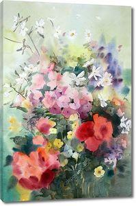 Акварель красивых цветов