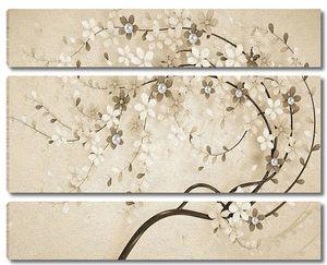 Тонкая ветвь цветущего дерева