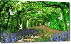 Зеленые арки в парке