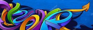 фон граффити