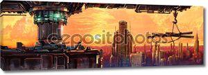 Фантастический город будущего
