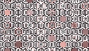 Geometrical fusion-серо-коричневый орнамент из сот
