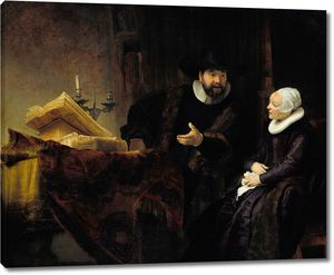 Рембрандт. Проповедник Ансло и его жена