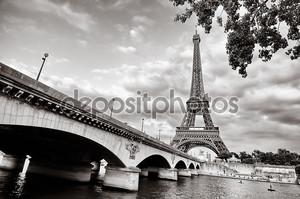 Эйфелеву башню от Сены
