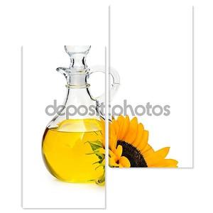 Бутылка подсолнечного масла