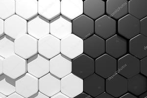 черно-белые гексагоны