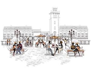 Серия уличных кафе