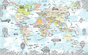 Воздушные шары и дирижабли на карте мира