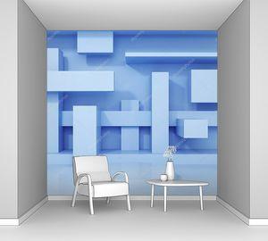 Абстрактные синие геометрические формы