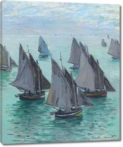 Моне Клод. Рыбацкие Лодки, Спокойное Море, 1868