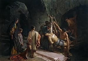 Алехандро Феррант-и-Фишерманс. Погребение святого Себастьяна